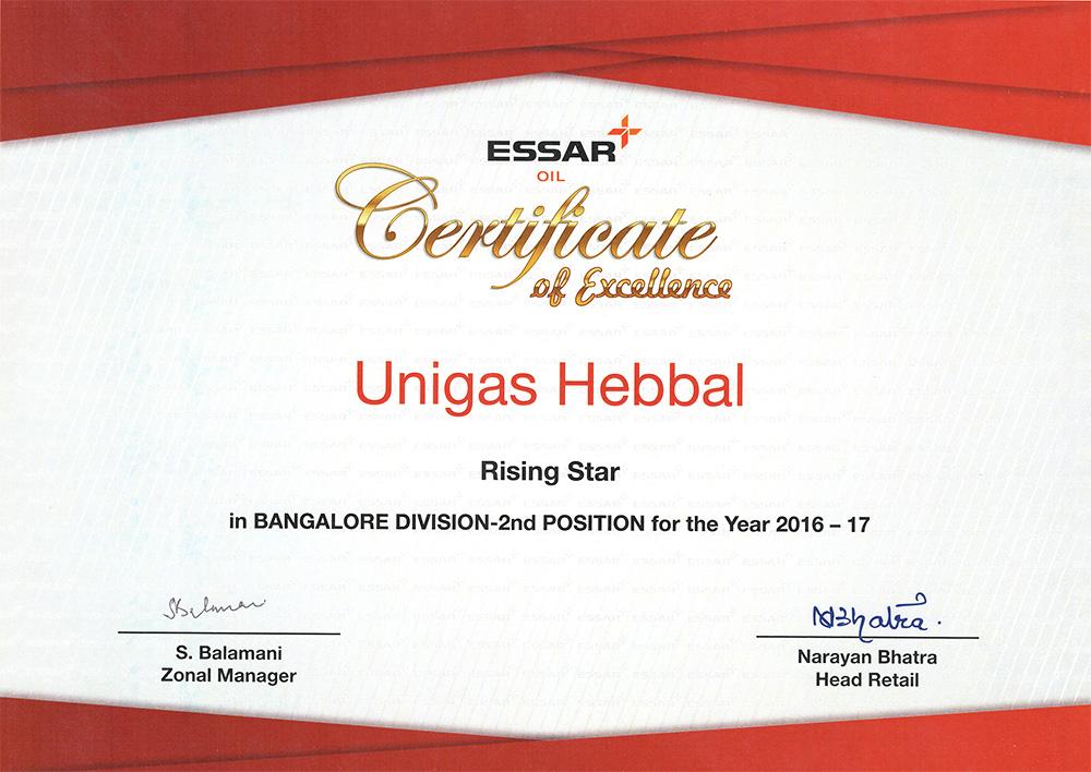 Essar-Certificate-Hebbal-RO